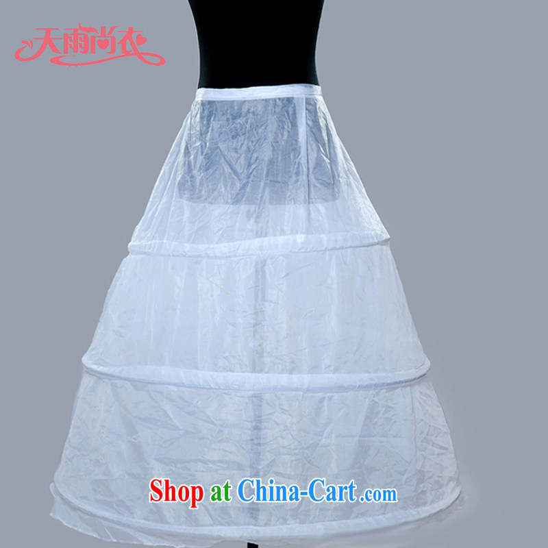 Rain was Yi marriages wedding layer 3 no yarn wedding dress stays 3 steel ring skirt stays 3 bone petticoat Q 6 white