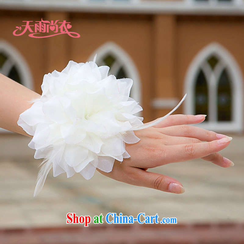 Rain Coat is performed head-dress stage styling married women and spend bridesmaid to spend wedding dresses chest take multi-purpose to spend TH 2m White