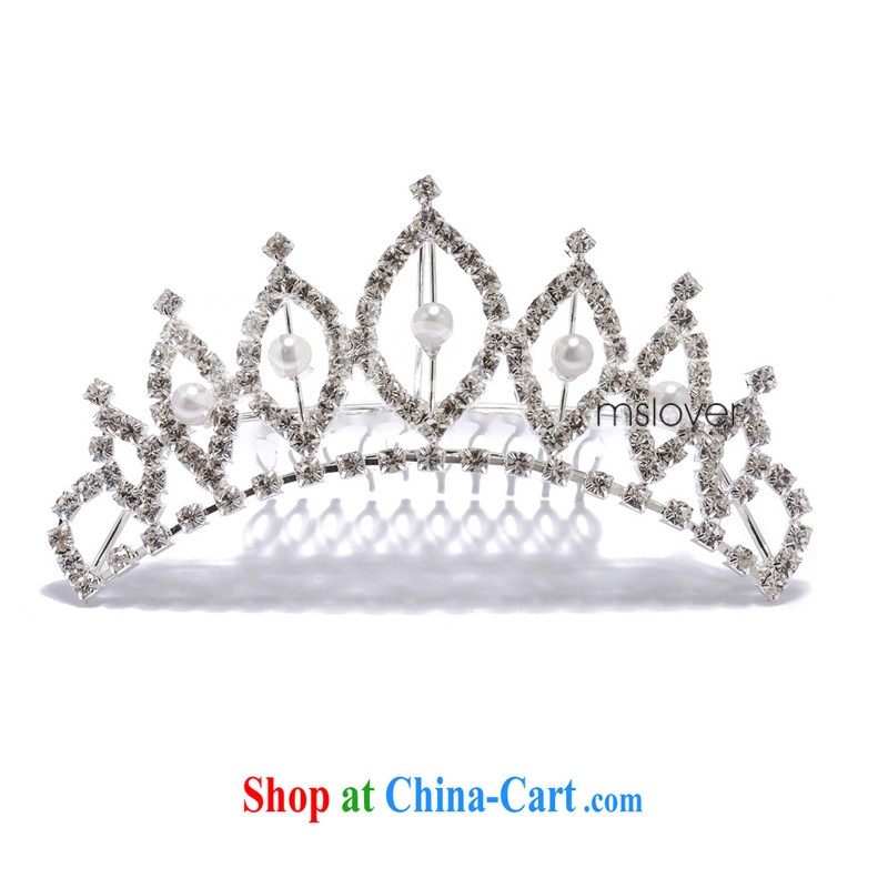 MSLover flower dress accessories water drill girls head-dress Korea Crown Princess-the-brush small Crown S 13,080 silver