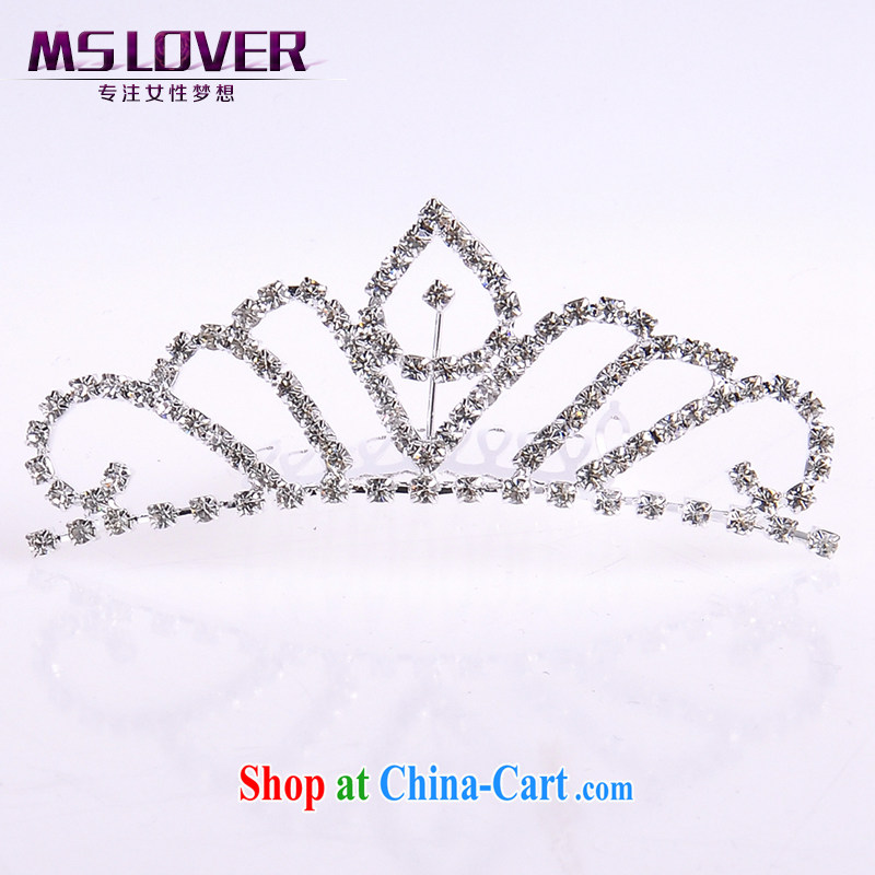 MSlover flower dress accessories water drilling children Crown headdress Korean Princess hair accessories with the comb small Crown SP 1051 silver