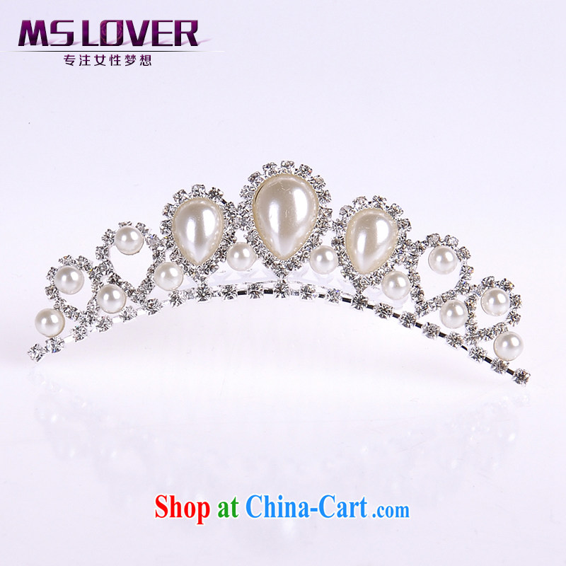 MSlover flower dress with Pearl girls head-dress Korea Crown Princess-the-brush small Crown S 130,803 silver