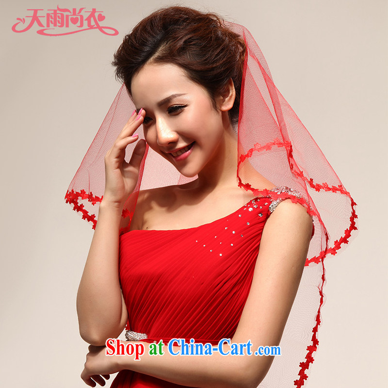 Rain is still Yi marriages and legal bridal style wedding dresses accessories and ornaments photo building and legal TS1 red