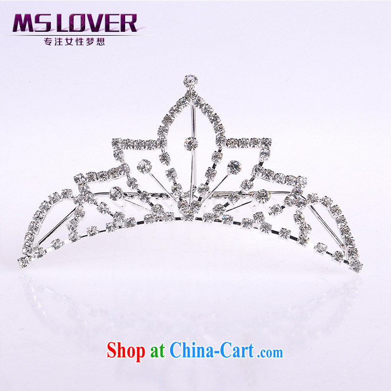 MSlover flower accessories water drilling children Crown headdress Korean Princess hair accessories children's performances and the comb small Crown SP 1032 silver