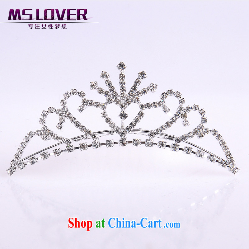 MSlover flower accessories water drilling children Crown headdress Korean Princess hair accessories children's performances and the comb small Crown SP 1033 silver
