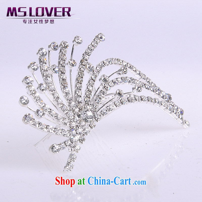 MSlover 4 light beam crystal alloy marriages small crown with the comb flower available SP 0099 silver
