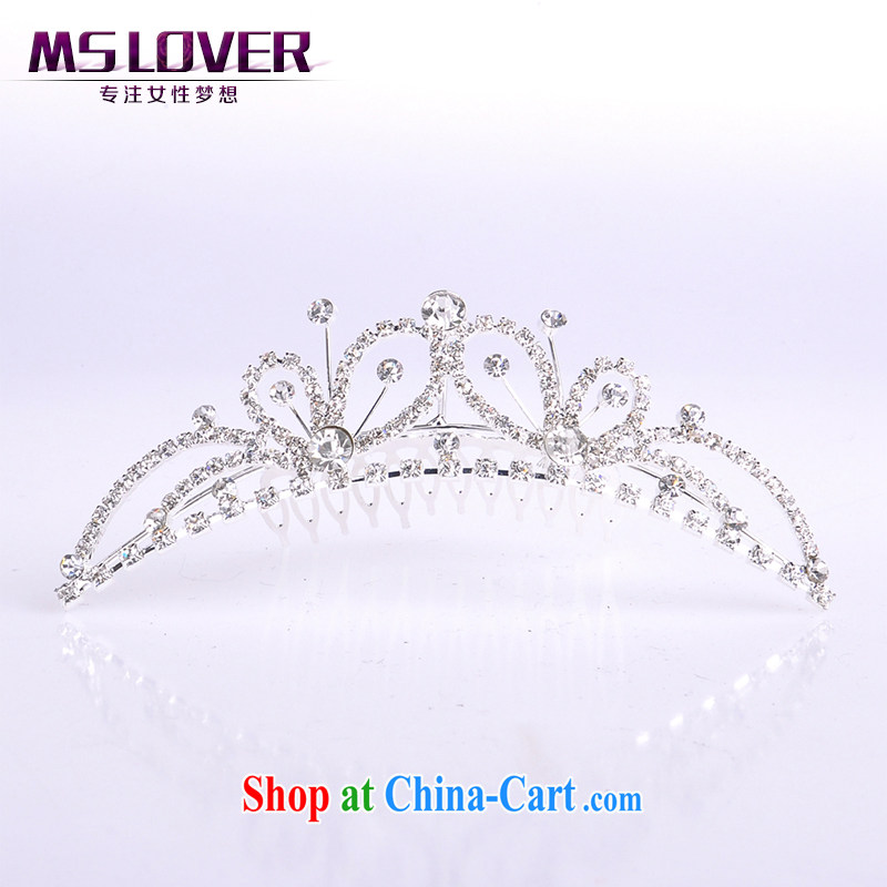 MSlover flower accessories water drilling children Crown headdress Korean Princess hair accessories children's performances and the comb small Crown SP 0096 silver