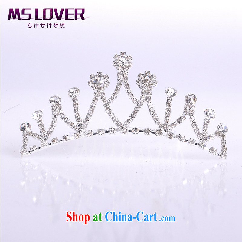 MSlover flower accessories water drilling children Crown headdress Korean Princess hair accessories children's performances and the comb small Crown SP 0086 silver