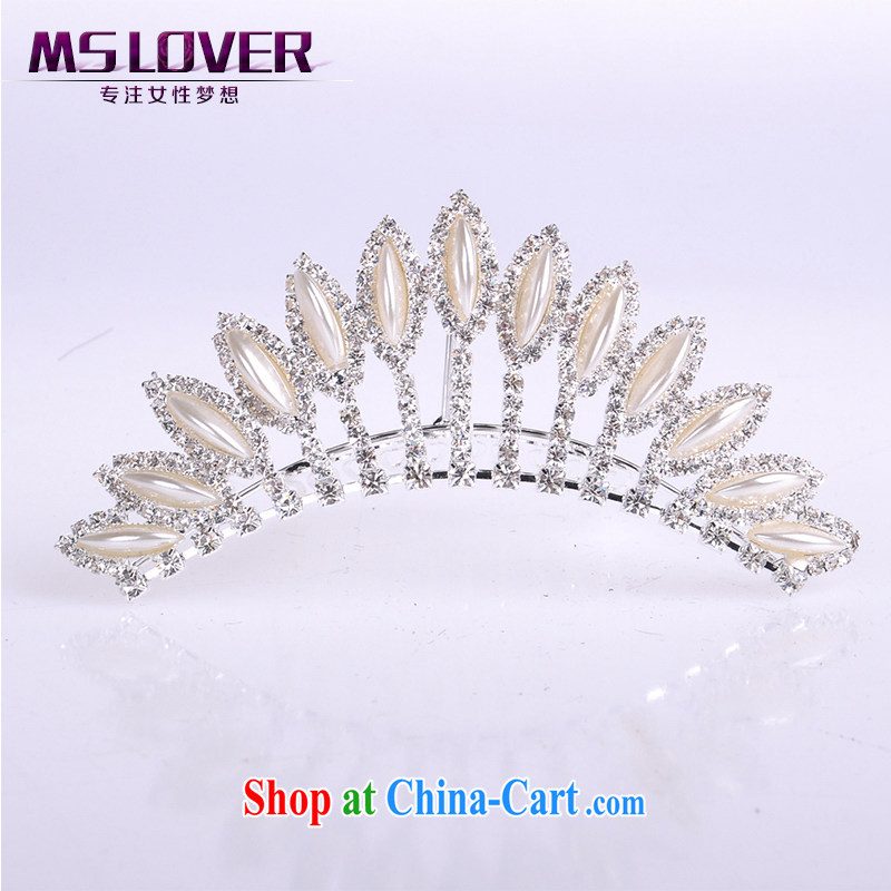 MSlover flower accessories water drilling children Crown headdress Korean Princess hair accessories children's performances and the comb small Crown SP 0088 silver