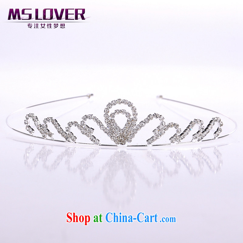 MSlover flash crystal alloy bridal Crown bridal accessories and ornaments hair accessories wedding hair accessories the clamp SP 1060 silver