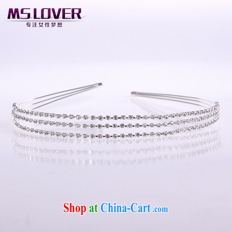 MSlover flash crystal alloy bridal Crown bridal accessories and ornaments hair accessories wedding hair accessories comb SP 1057 silver
