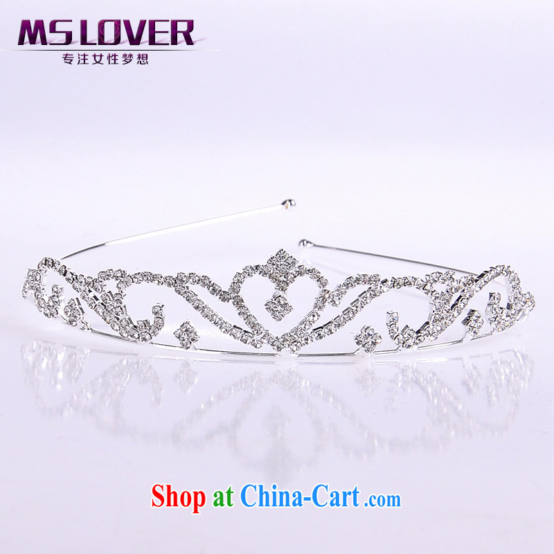 MSlover flash crystal alloy bridal Crown bridal accessories and ornaments hair accessories wedding hair accessories comb SP 1052 silver