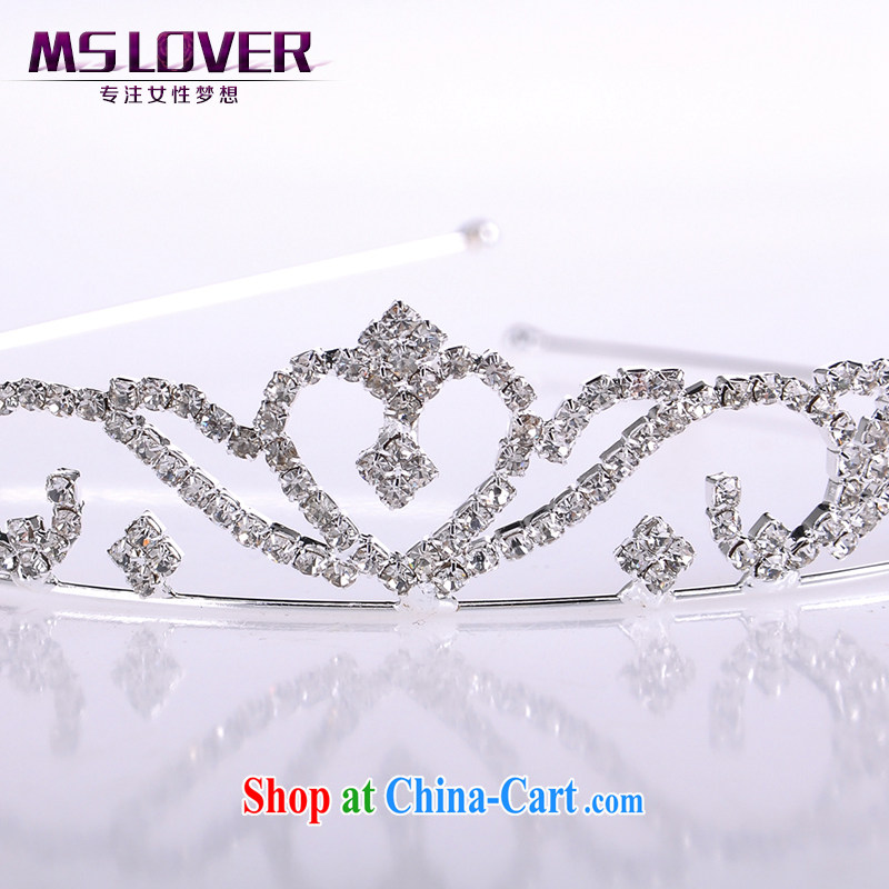 MSlover flash crystal alloy bridal Crown bridal accessories and hair accessories wedding hair accessories comb SP 1052 silver, name, Mona Lisa (MSLOVER), shopping on the Internet