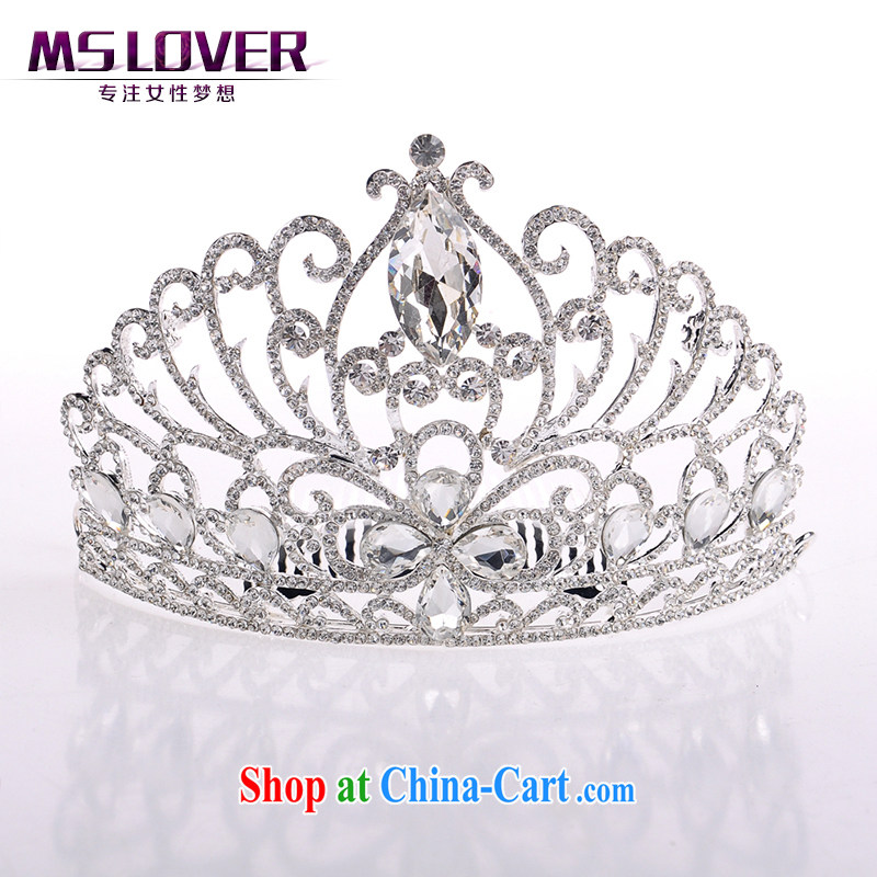 MSlover luxury 11,000 spoil crystal alloy bridal Crown bridal accessories and ornaments hair accessories wedding hair accessories SP 0141 silver