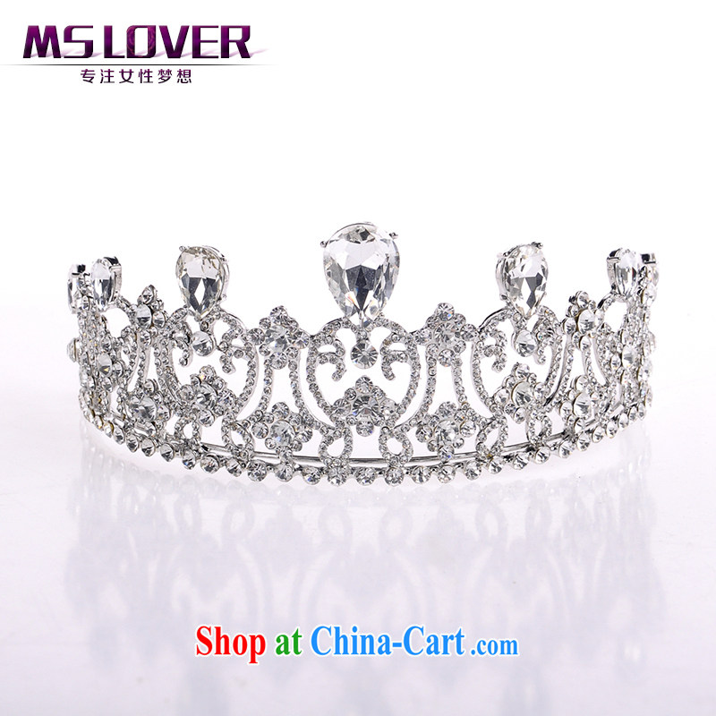 MSlover sparkling crystal alloy bridal Crown bridal accessories and ornaments hair accessories wedding hair accessories SP 0140 silver