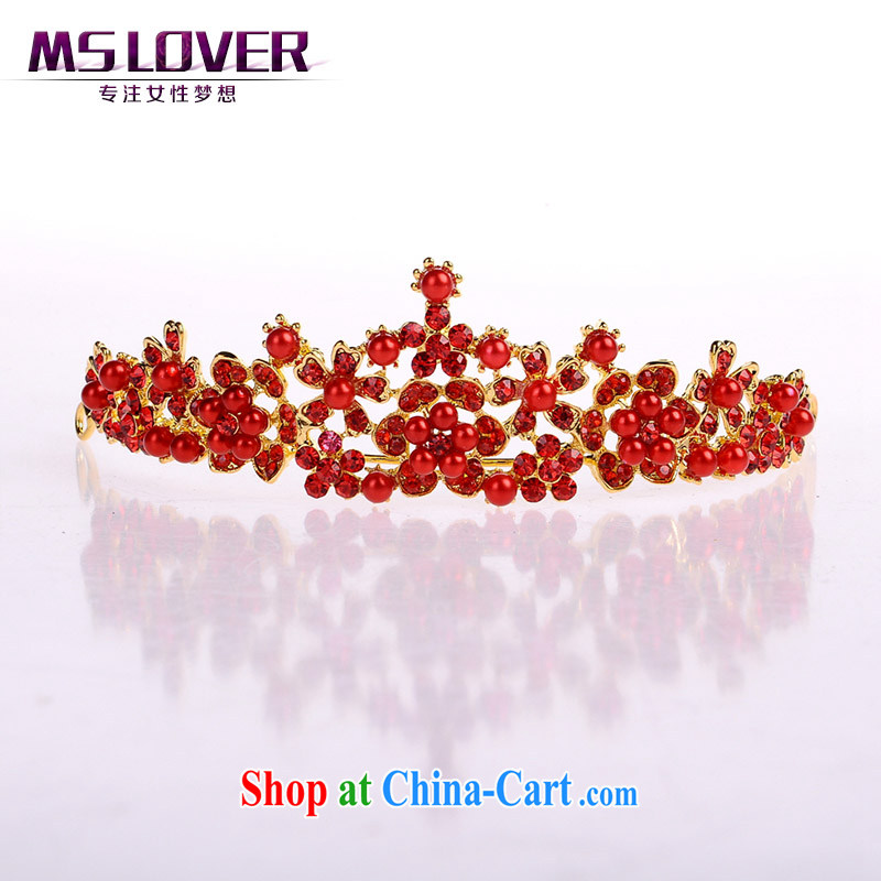 Haze MSlover Ambilight crystal alloy bridal Crown bridal accessories and ornaments hair accessories wedding hair accessories red SP 0115 red