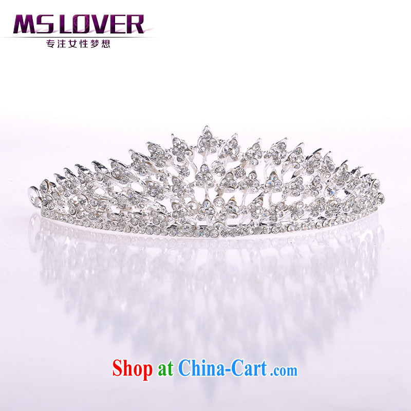 MSlover shining light drill crystal alloy bridal Crown bridal accessories and hair accessories wedding hair accessories SP 0109 silver