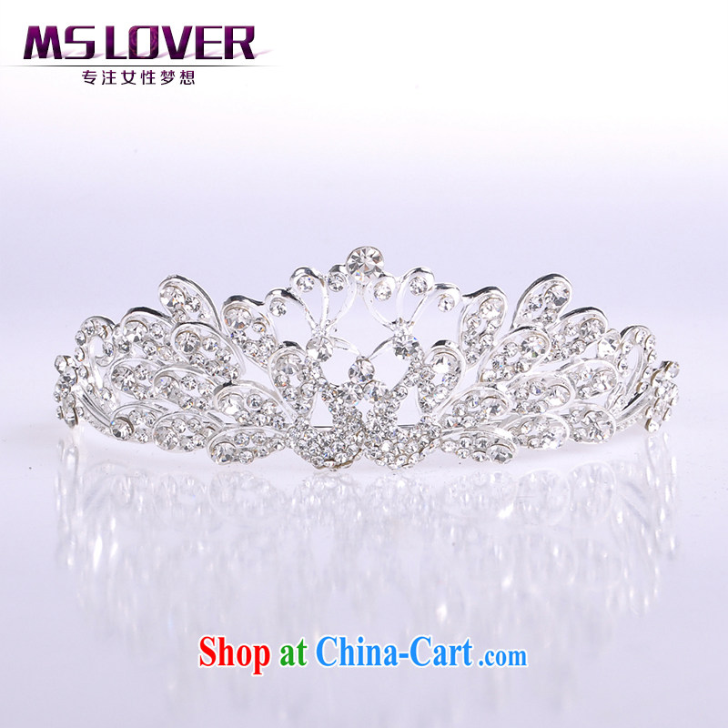 MSlover crystal alloy bridal Crown bridal accessories and ornaments hair accessories wedding hair accessories SP 0105 silver
