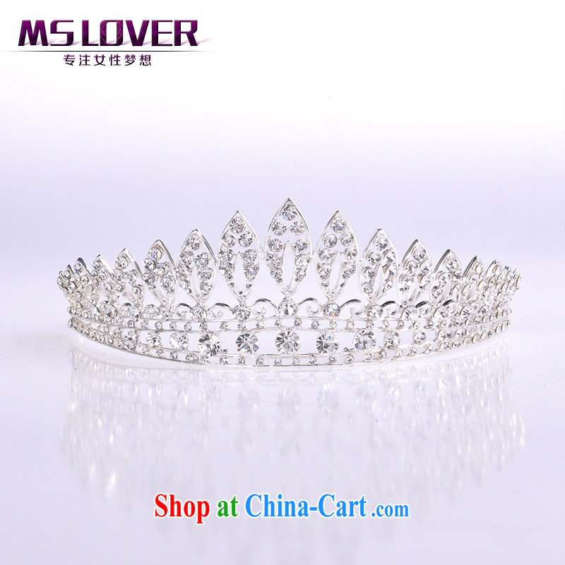 MSlover crystal alloy bridal Crown bridal accessories and ornaments hair accessories wedding hair accessories SP 0106 silver