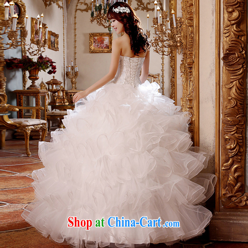 Honeymoon bridal 2015 new wedding dresses lace, Mary Magdalene Princess chest shaggy dress with wedding dress with white XL, Honeymoon bridal, shopping on the Internet