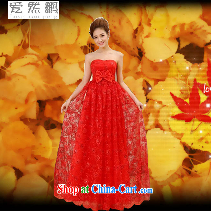 2015 new Korean pregnant women high-waist wedding dress tied with a red wedding bridal toast serving long evening dress customer size will not be returned.