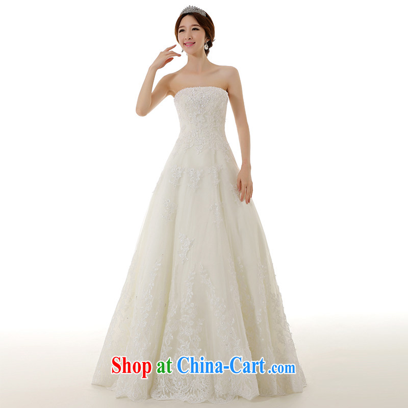 Dirty comics 2015 new stylish erase chest A Field dress flare with wedding dresses retro lace embroidery manually pearl cultivation wedding white tailored pre-sale