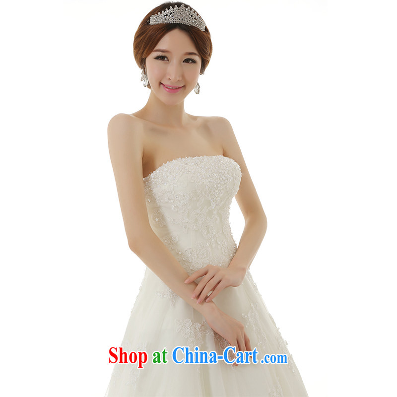 Dirty comics 2015 new stylish erase chest A Field dress flare with wedding dresses retro lace embroidery manually pearl cultivation wedding white tailored pre-sale, clean comics, and shopping on the Internet