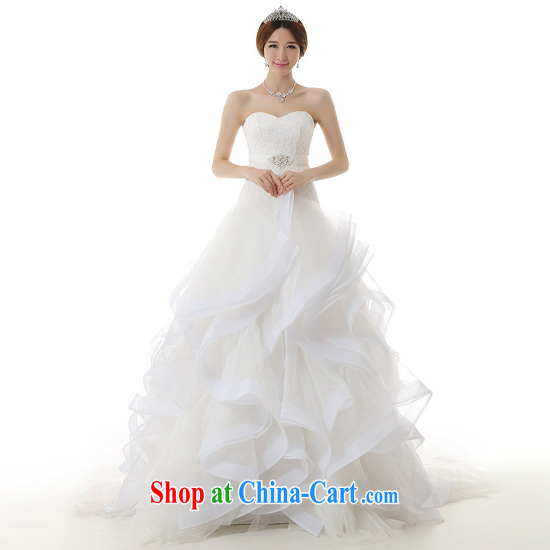 Dirty comics 2015 spring and summer new stylish european van flouncing dream big tail wedding dresses white tailored