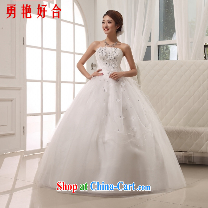 According to the 2015 Uganda new summer married Korean American wiped his chest to tie, bridal wedding dresses white M