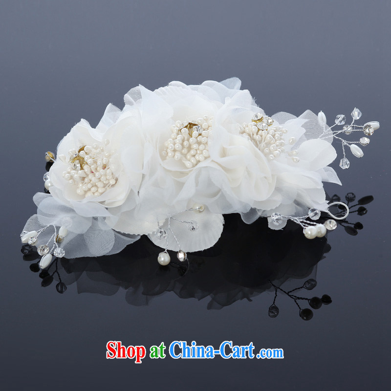 MSLover snow Night Hong Kong Lin marriages with ornaments and ornaments hair accessories bridal and flower ornaments TH 130,701 white