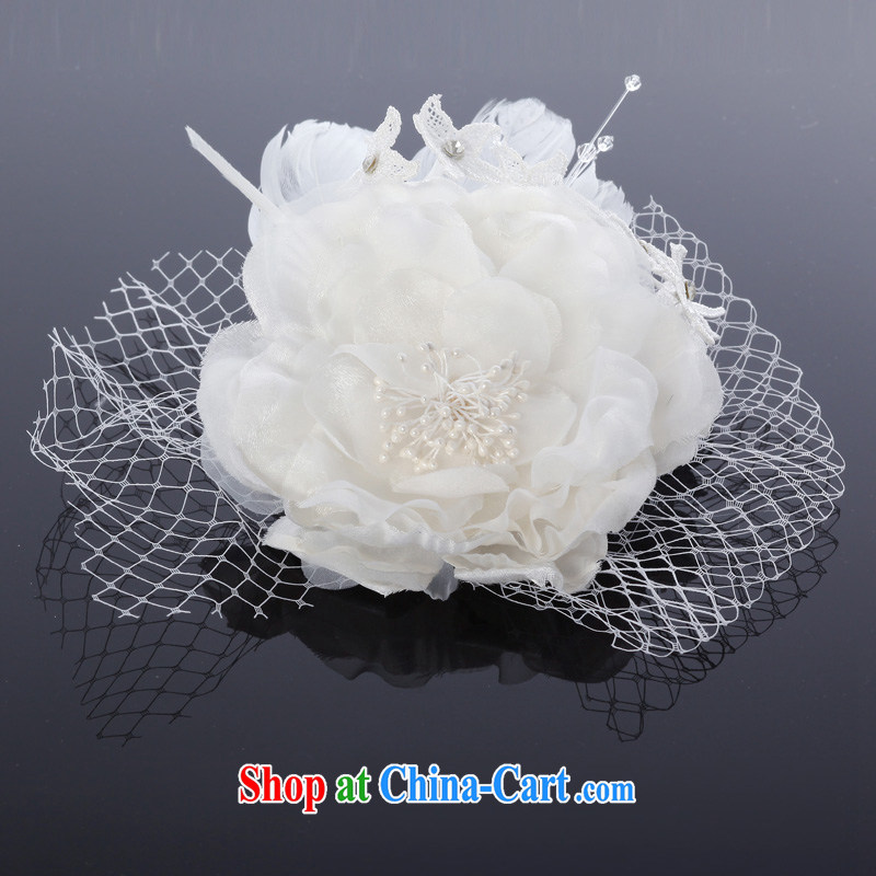 MSLover Dream Web yarn bridal wedding accessories and ornaments hair accessories bridal and flower ornaments TH 130,703 white