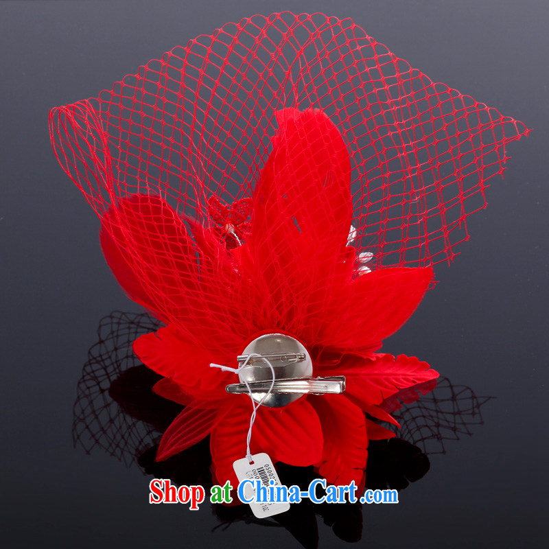 MSLover red feather Web yarn bridal wedding accessories and ornaments, jewelry bridal and flower ornaments TH 130,739 red, name, Mona Lisa (MSLOVER), online shopping