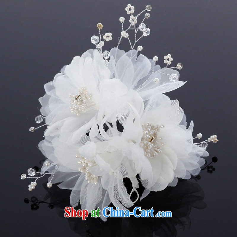 MSLover Pearl bridal wedding accessories wedding headdress hair accessories bridal and flower ornaments TH 130,707 white