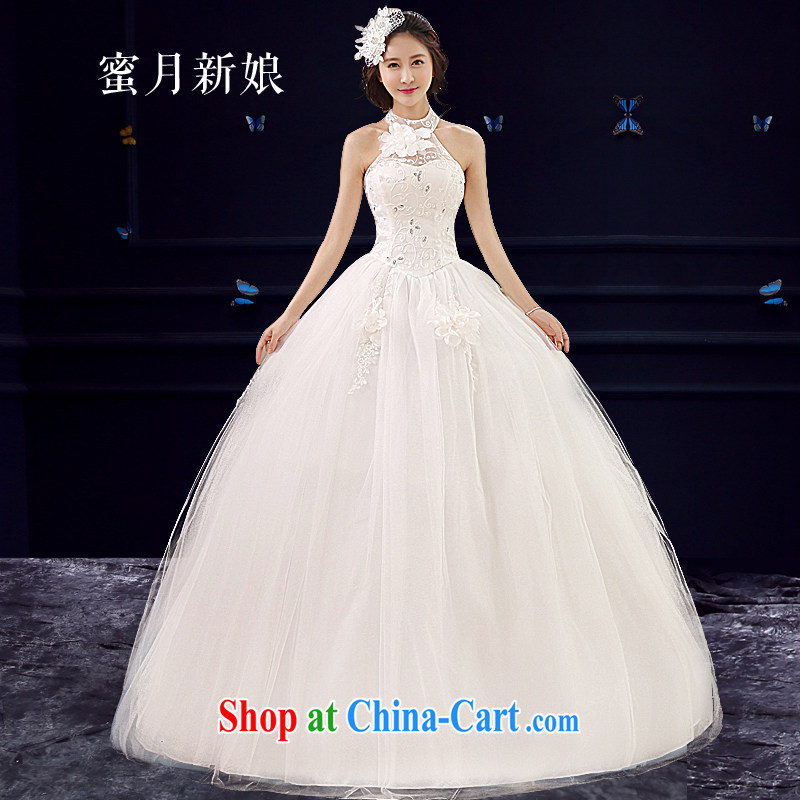 Honeymoon bridal wedding dresses 2015 new Korean flower parquet drill mount also wedding with Princess tie wedding summer wedding M