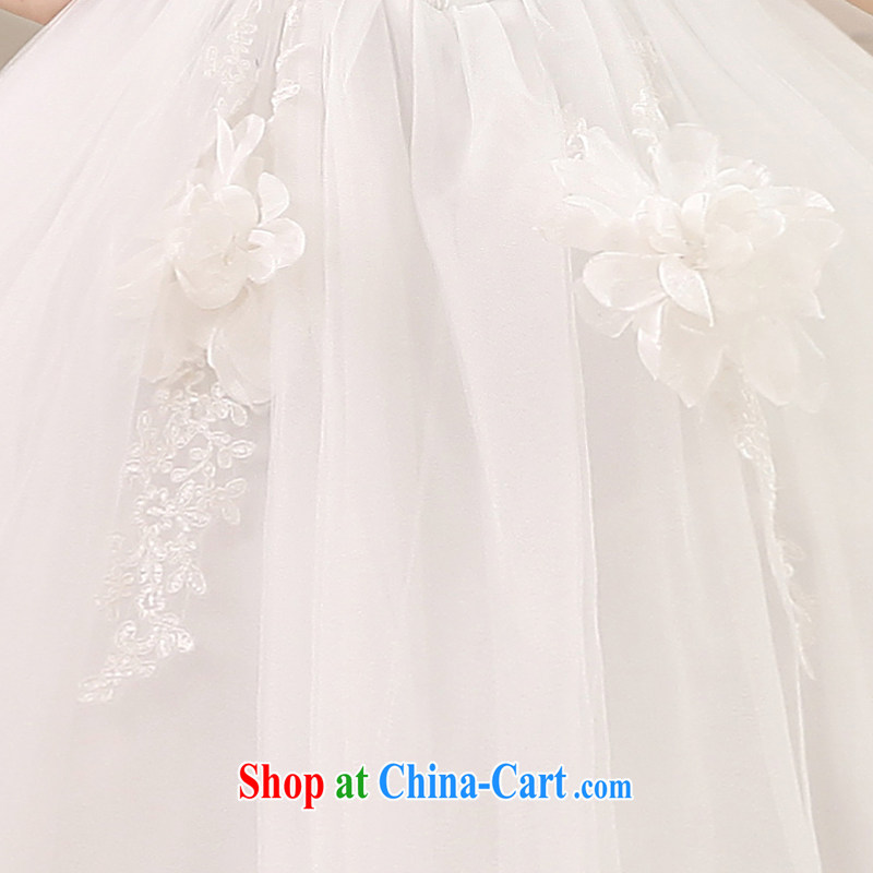 Honeymoon bridal wedding dresses 2015 new Korean flower parquet drill mount also wedding with Princess tie wedding summer wedding M, Honeymoon bridal, shopping on the Internet