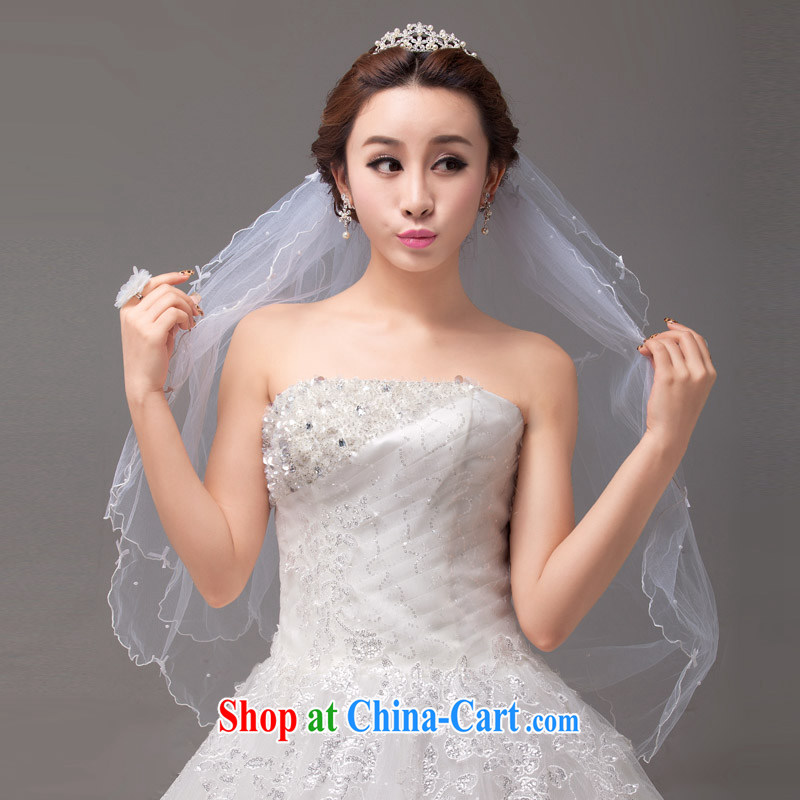 MSLover fresh and elegant butterfly knot volume edge multi-level wedding dresses accessories marriages and yarn TS 131,127 white