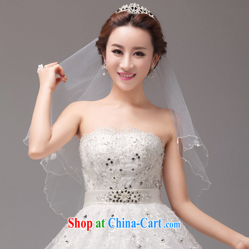 MSLover single layer 1.5 M wedding dresses accessories marriages and yarn comfortable, lightweight short veil TS 131,120 white