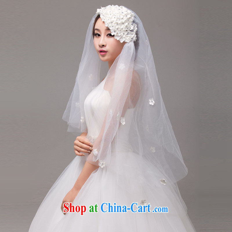 MSLover fresh flowers 2-Layer wedding dresses accessories marriages and yarn styling yarn TS 131,113 white