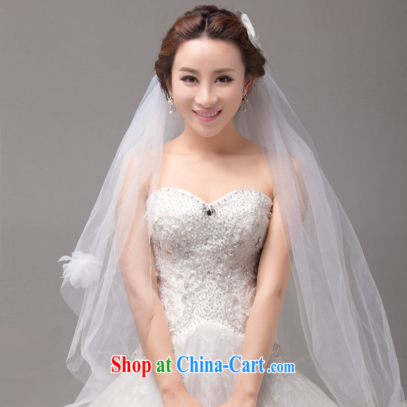 MSLover only the fresh-kuen yarn flowers 4-Layer wedding dresses accessories marriages and yarn TS 131,110 white