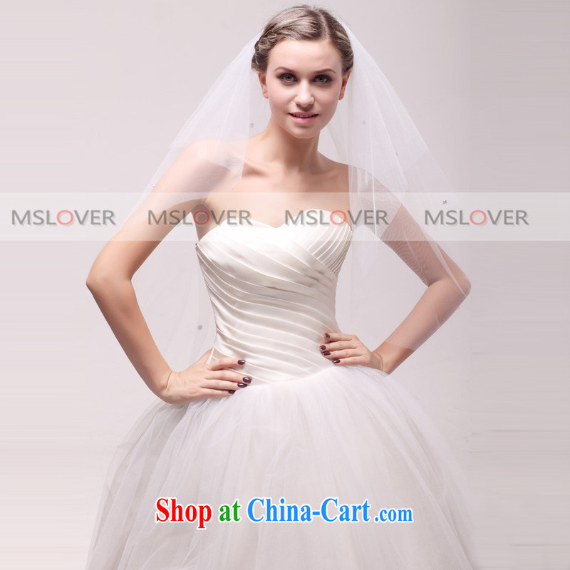 MSLover Butterfly Lovers, 1.2 M layer 2 wedding dresses accessories bridal wedding head-dress, ornaments and yarn TS 121,137 white