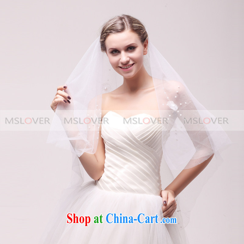 Sun MSLover spent 1.5 M single layer wedding dresses accessories marriages and ornaments, ornaments and yarn TS 121,130 white