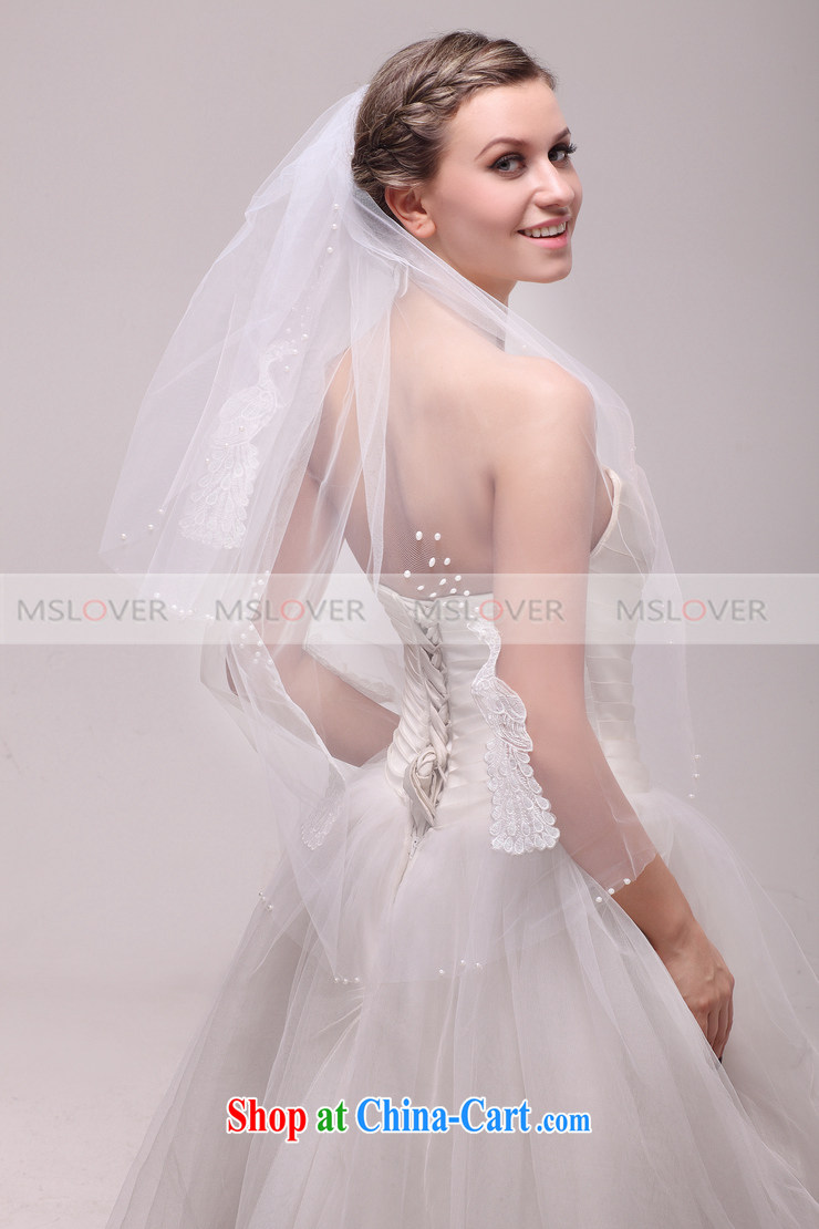 MSLover 1M double wedding dresses accessories bridal wedding head ...