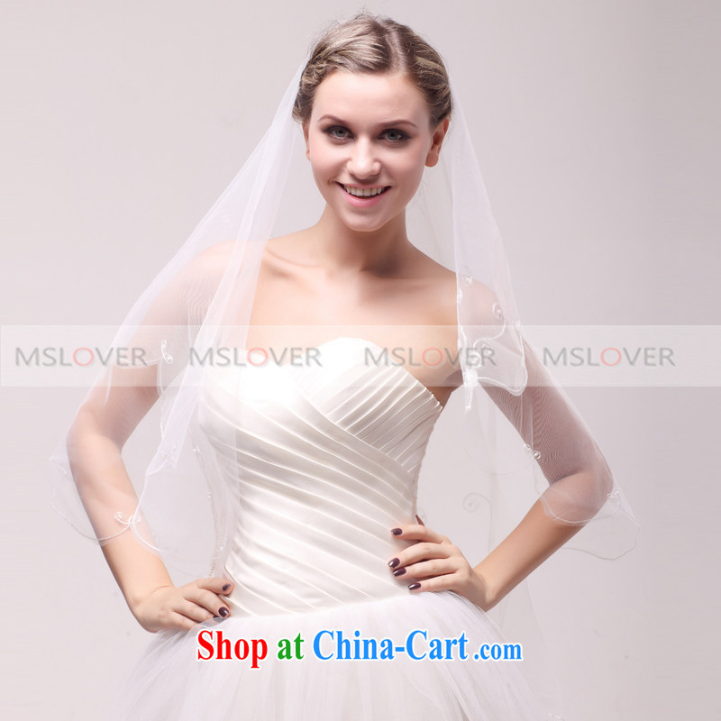 MSLover 1.5 M single layer lace wedding dresses accessories marriages and ornaments, ornaments and yarn TS 121,116 white
