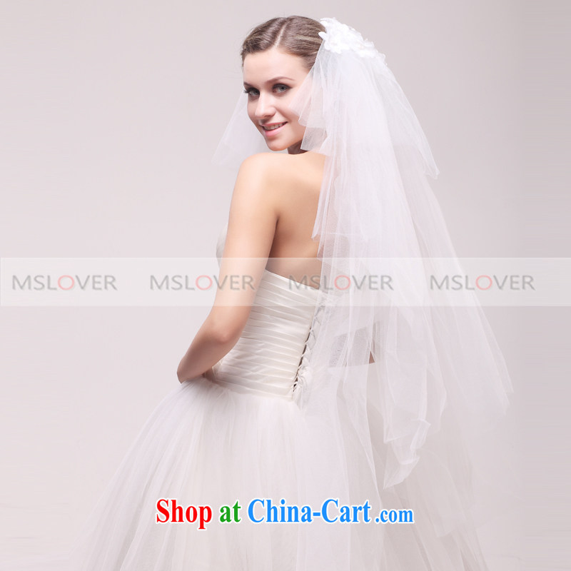 100 MSLover A 1.5 M 6-Layer wedding dresses accessories marriages and trim the trim long head yarn TS 121,113 white