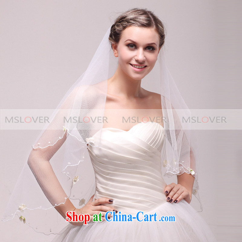 MSLover minimalist flower 1.5 M single layer wedding dresses accessories bridal wedding head-dress, ornaments and yarn TS 120,340 white