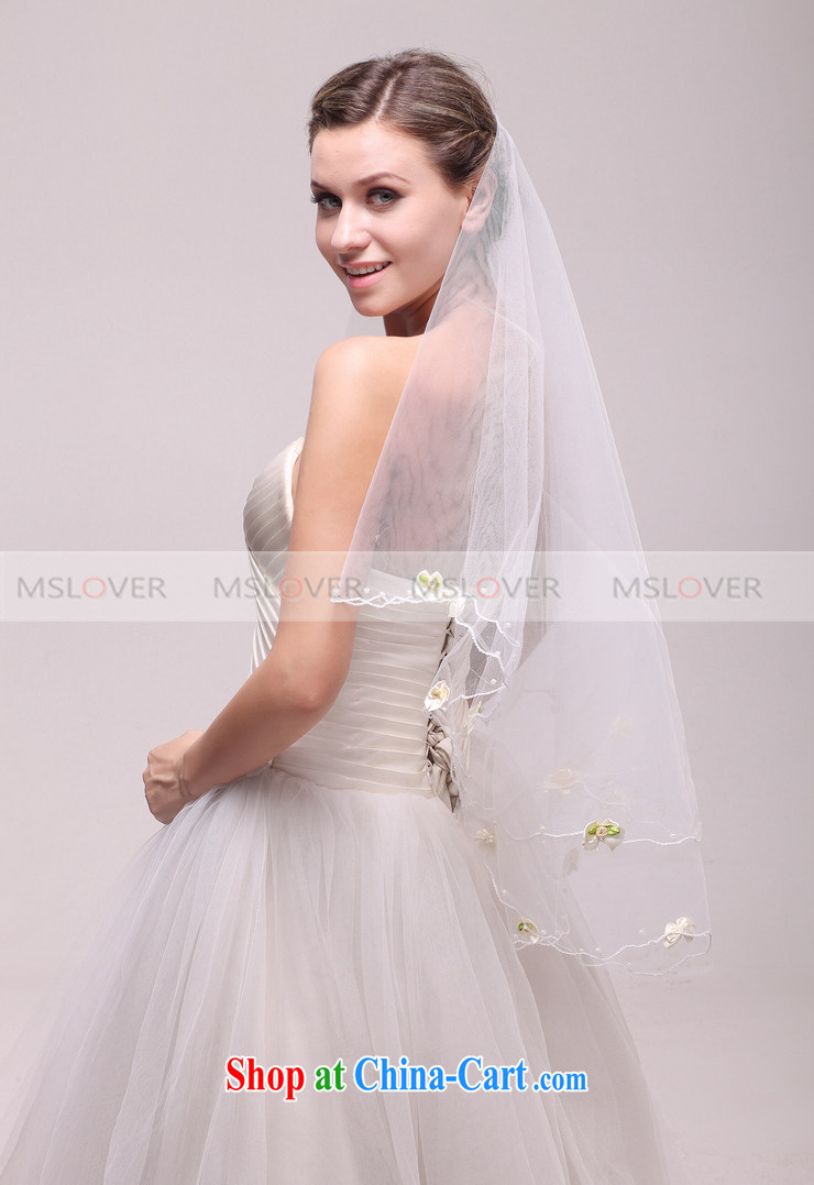 MSLover minimalist flower 1.5 M single layer wedding dresses ...