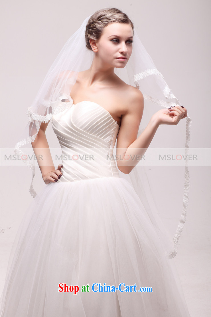 MSLover beautiful lace 1.1 M double wedding dresses accessories ...