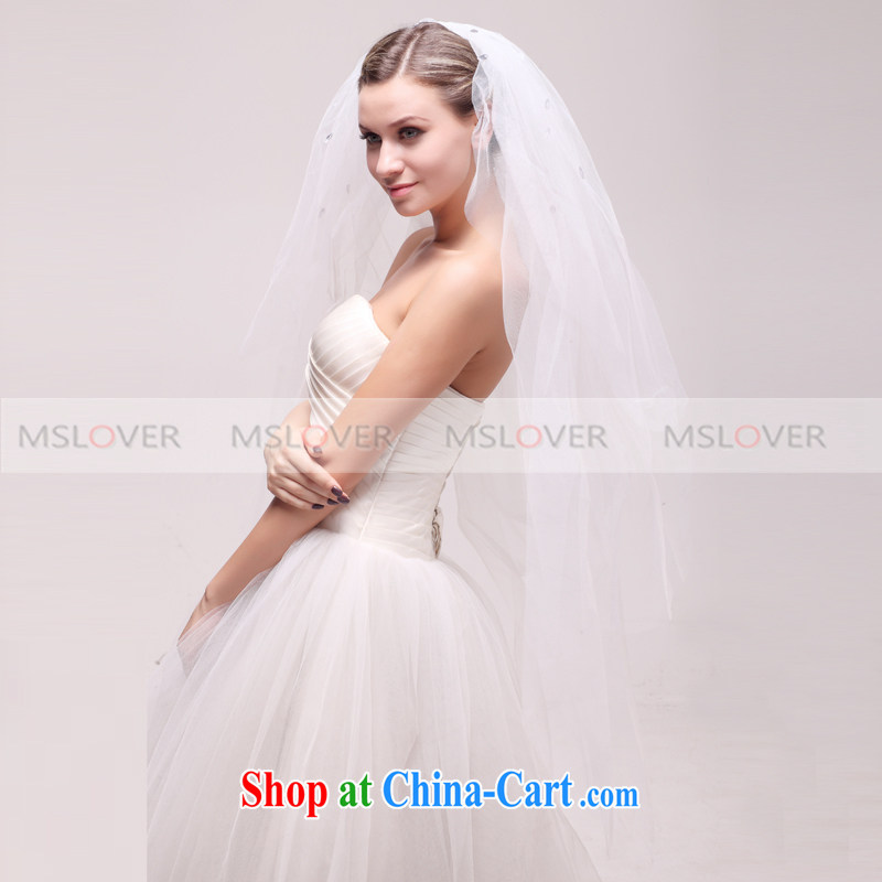 MSLover simple wood drill 0.9 M layer 3 wedding dresses accessories marriages and ornaments, ornaments and yarn TS 120,334 white