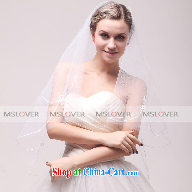 MSLover clover single layer 1.5 M wedding dresses accessories marriages and yarn TS 120,302 white