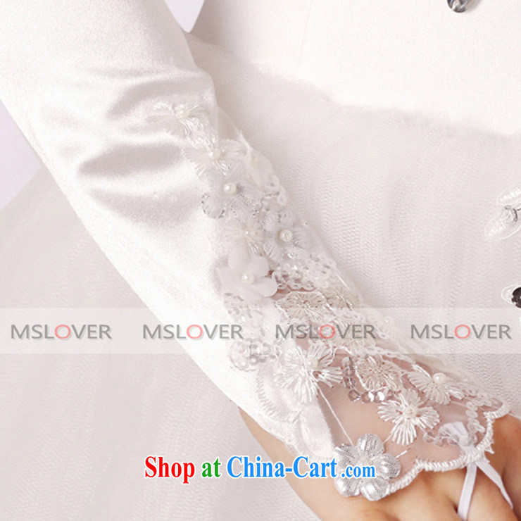 MSLover luxury lace flowers 5 refer to long, Dinner Show bridal wedding gloves wedding gloves ST 1303 white pictures, price, brand platters! Elections are good character, the national distribution, so why buy now enjoy more preferential! Health