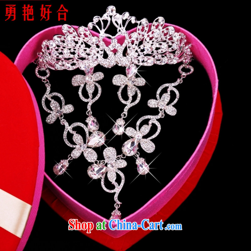 Yong-yan and 2015 new jewelry female Crown necklace earrings set A 12 white